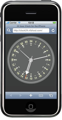 iphone web app clock