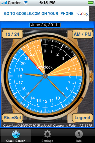 Skyclock for iPhone