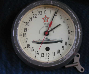 Soviet Russian Submarine 24 hours Clock