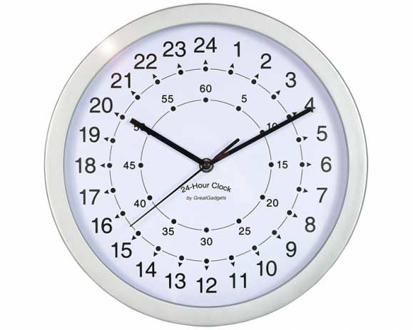 Office Clocks sell a good range of 24 hour clocks.