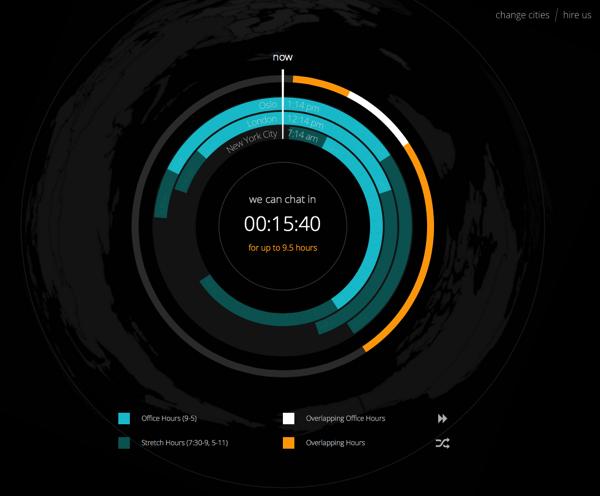 world chat clock