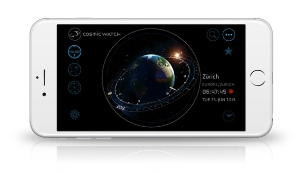 Cosmic Watch iPhone android worldclock and year